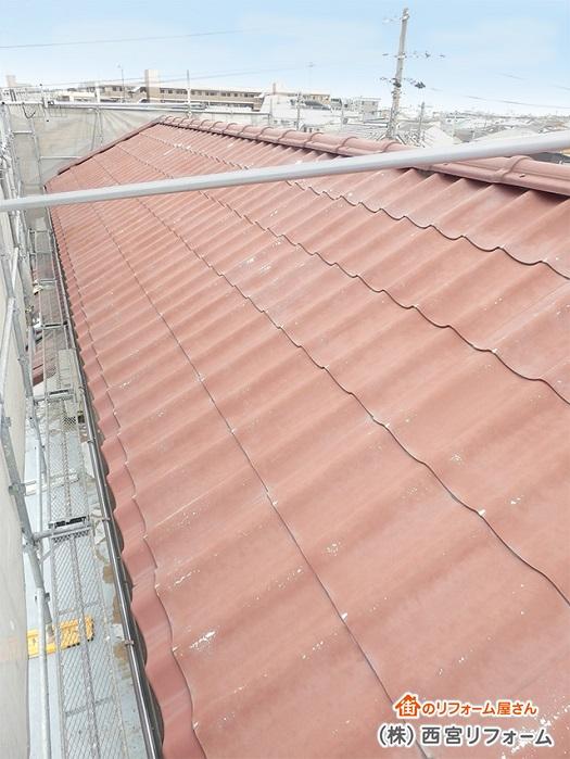 以前の大屋根部分 ( 北面 )