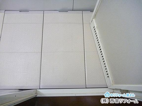 TOTOのカラリ床の設置