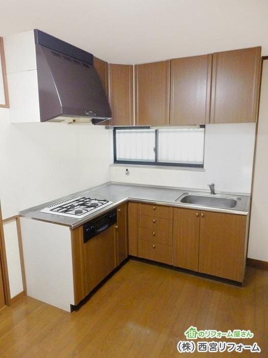 以前の壁付L(エル)型キッチン