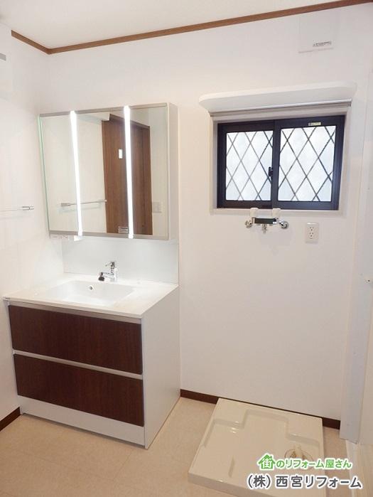 洗面所も1坪のスペースを確保