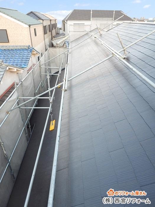 足場を兼用して外壁と屋根の塗装