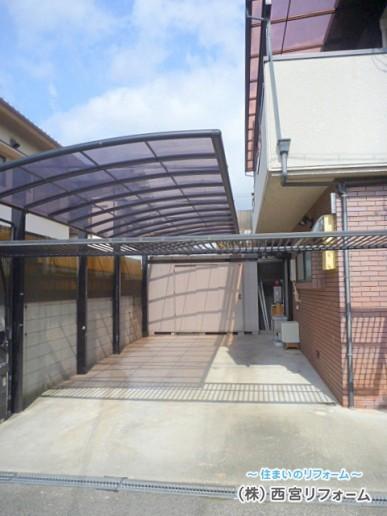 外壁とカーポートの隙間