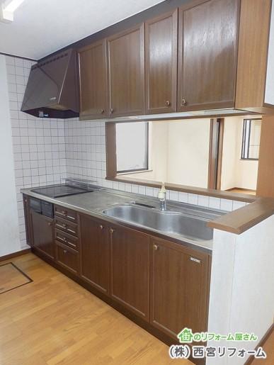 従来の対面キッチン