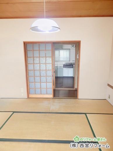 以前の和室と廊下とDK
