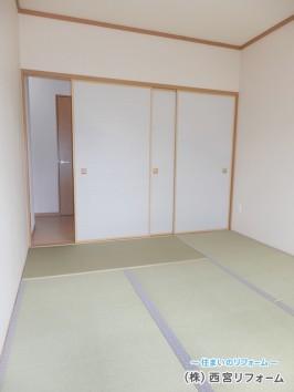和室の畳の表替えと襖の貼替え