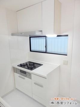 効率よく作業できるII 列型対面キッチン