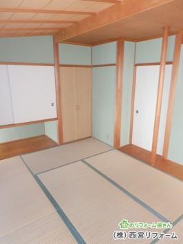 聚楽(じゅらく)壁の塗り替え