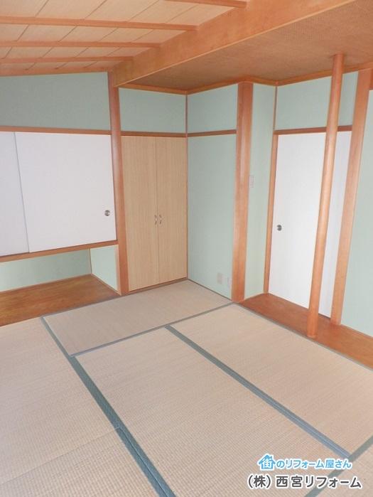 聚楽( じゅらく )壁の塗り替え