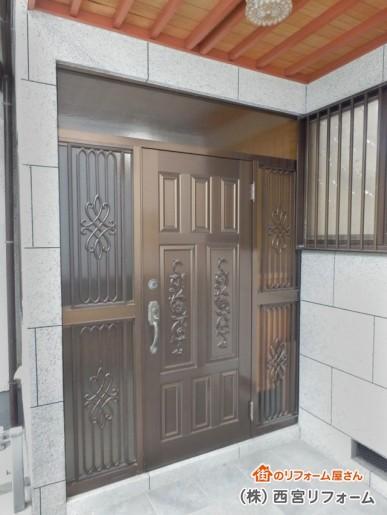 以前の玄関まわり