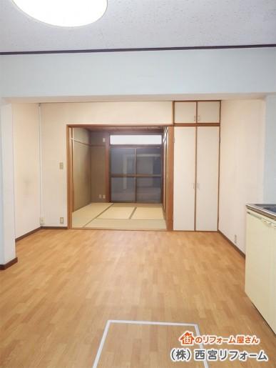 以前のダイニングキッチン、和室