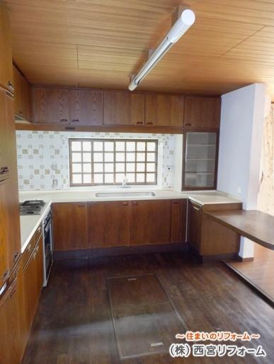 壁付けL 型キッチン