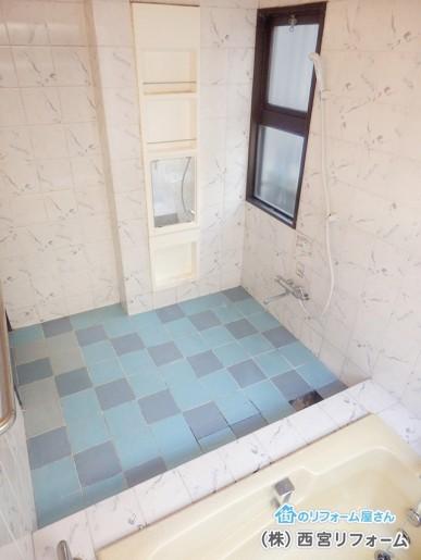昔ながらの在来浴室