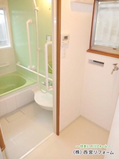 浴室のスペースアップ