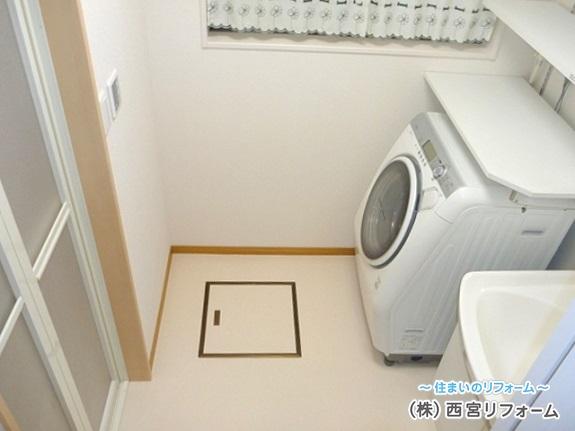 床下収納庫の設置