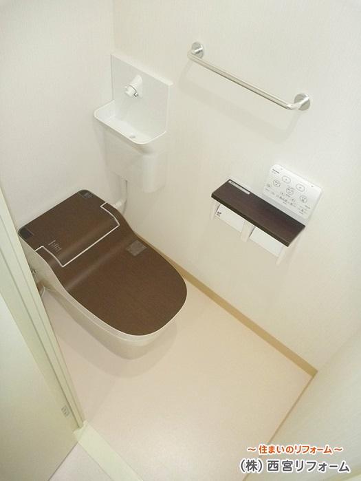タンクレストイレ、専用手洗いユニット
