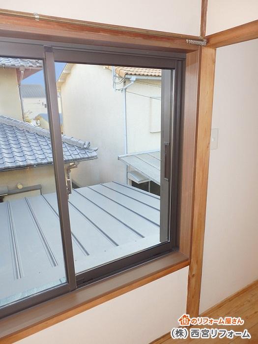 木製の窓からアルミサッシへ入れ替え