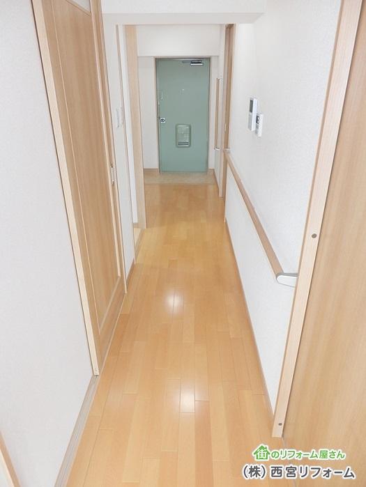 介護リフォームに伴う廊下の幅員の拡張