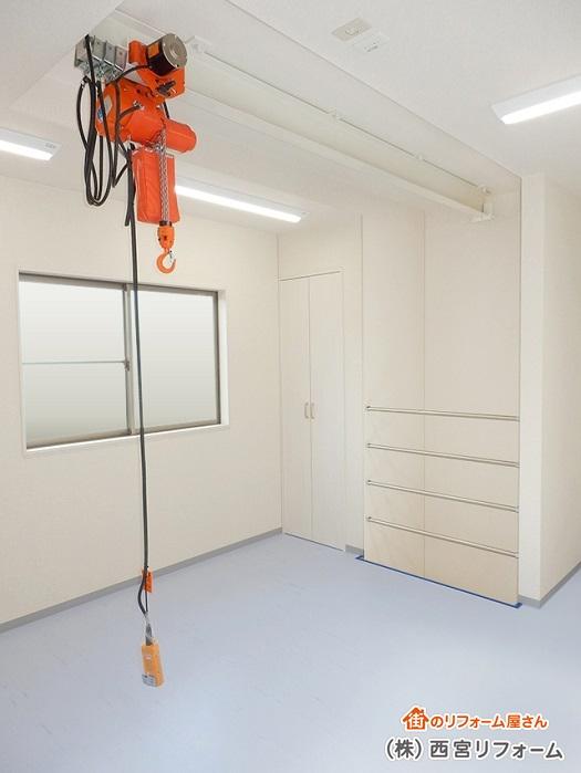 天井ホイストクレーンの設置