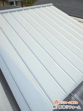 ガルバリウム鋼板の竪はぜ葺き