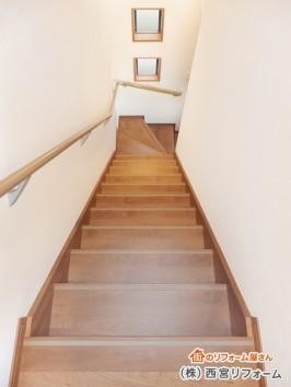 緩やかで昇り降りしやすい階段