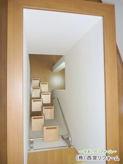 省スペースでも設置できる ロフト階段