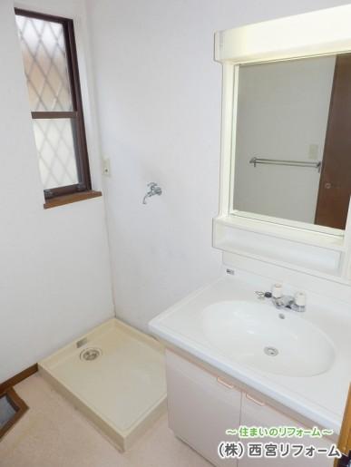 一面鏡の洗面化粧台