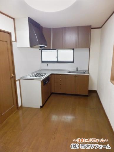 壁付け L(エル)型キッチン