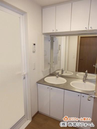 狭い洗面所スペース