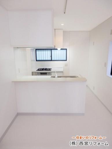 II 型(にがた)対面キッチンへ