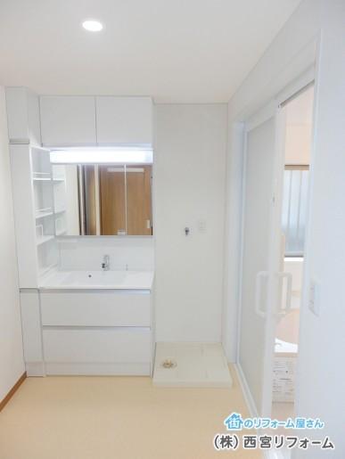 浴室と洗面所を移設