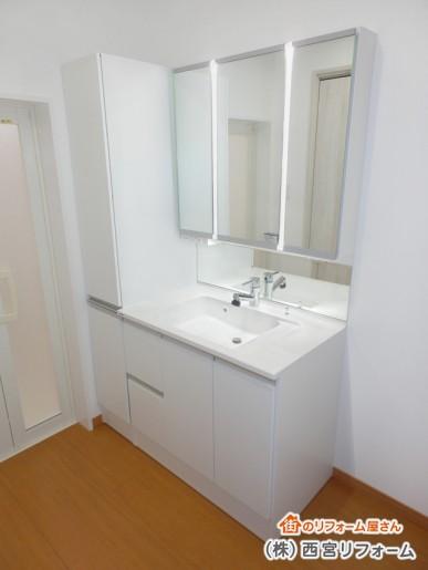 洗面所スペースの増築