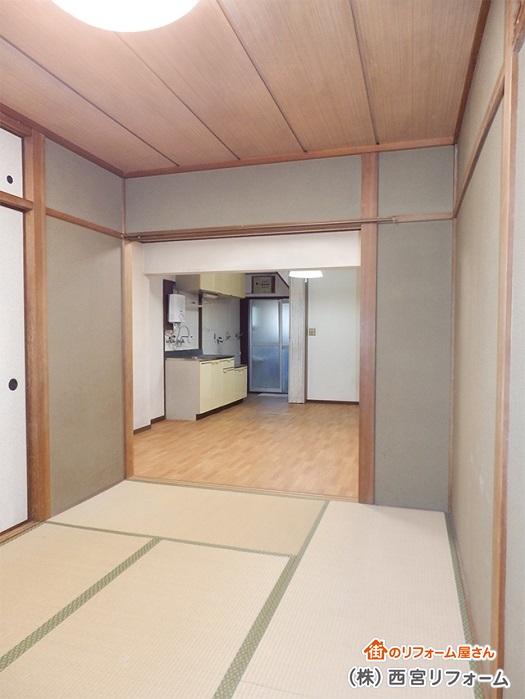 以前の和室とダイニングキッチン