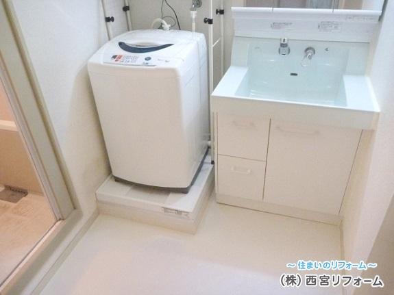 リフォーム後の洗濯機置き場