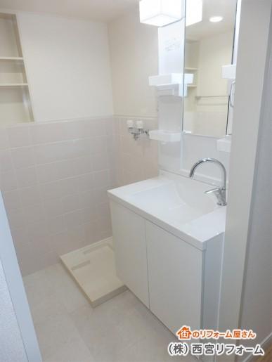 広くなった洗面所スペース