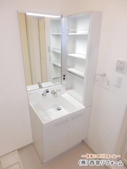 収納力に優れた洗面化粧台