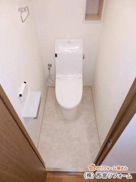 一体型便器のシャワートイレ