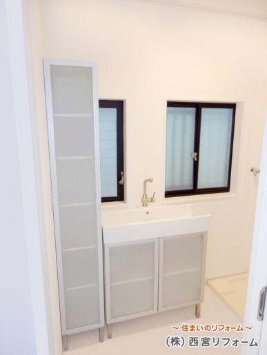 洗面所のスペースアップ