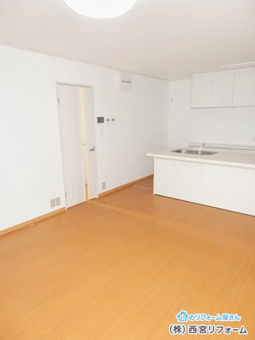 床暖房を2箇所に分けて設置
