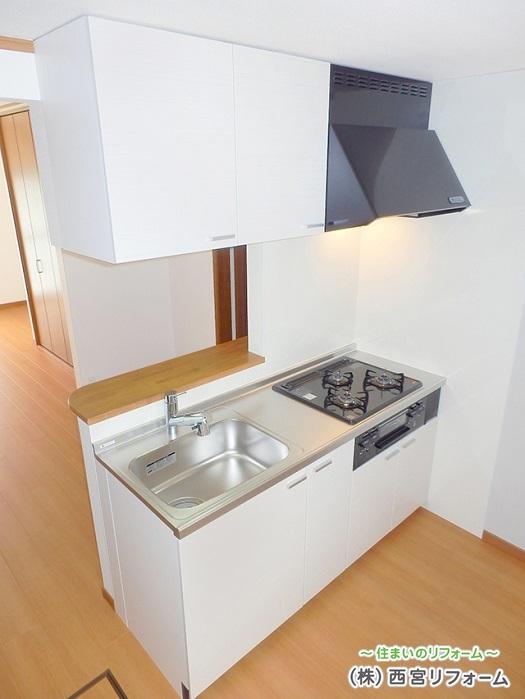 対面式のコンパクトキッチンの設置