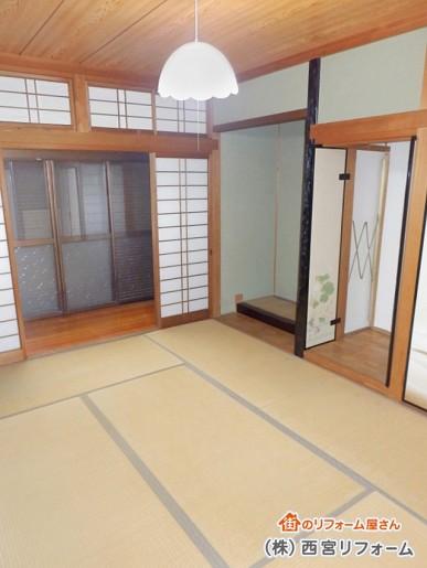 以前の和室、床の間、仏間