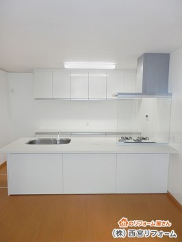ペニンシュラ I 型対面キッチン