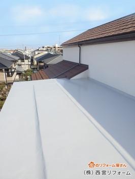 陸屋根部分のウレタン防水
