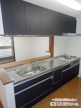 キッチンの取替え 床暖房の新設