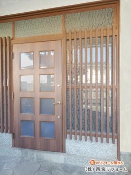 軽い玄関ドアの設置