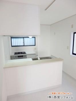 解放感のあるII 列型対面キッチン