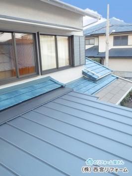 屋根の葺替え アルミサッシへの入替え 外壁塗装