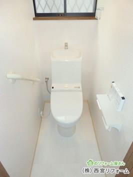 便器とタンクが一体型の節水トイレ