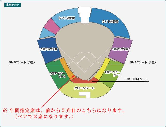 甲子園座席シート