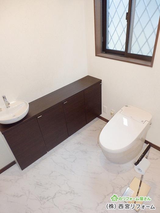 約1坪の広いトイレ空間 タンクレストイレの設置