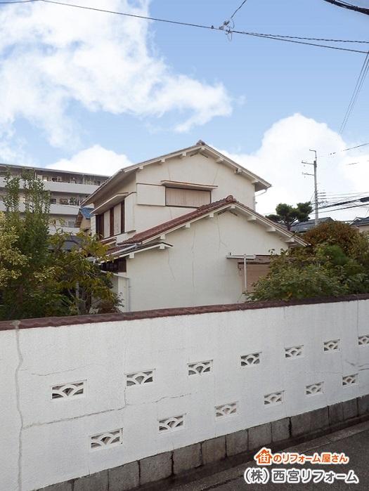 以前の塗装前の外壁と外構